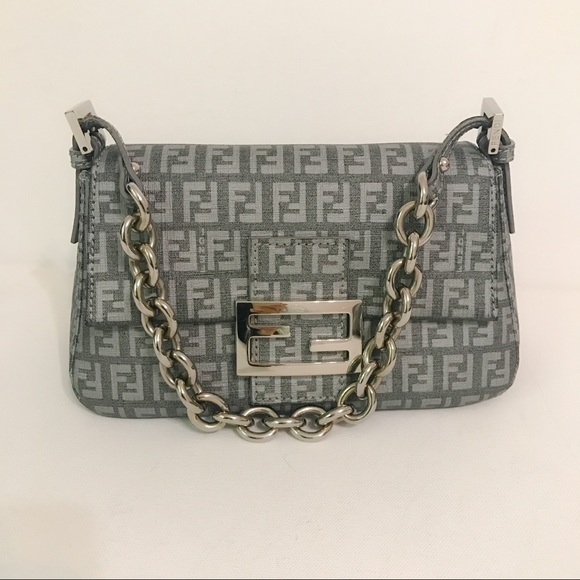 746ae71510b00 Fendi Handbags - Authentic Fendi Zucchini Mini Mama Bag Gray